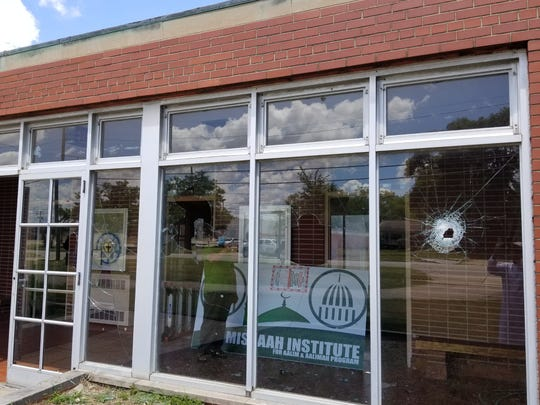 Vandals smashed out windows at IIC Warren
